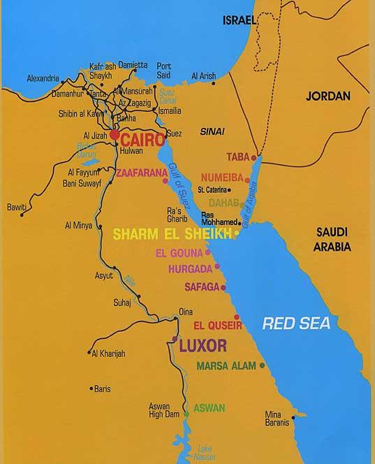 Хургада и Шарм-эль-Шейх.